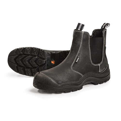Bison Grizzly Slip-on Safety Boot - Anti-Penetration insole PU sole (BISON10SBP)